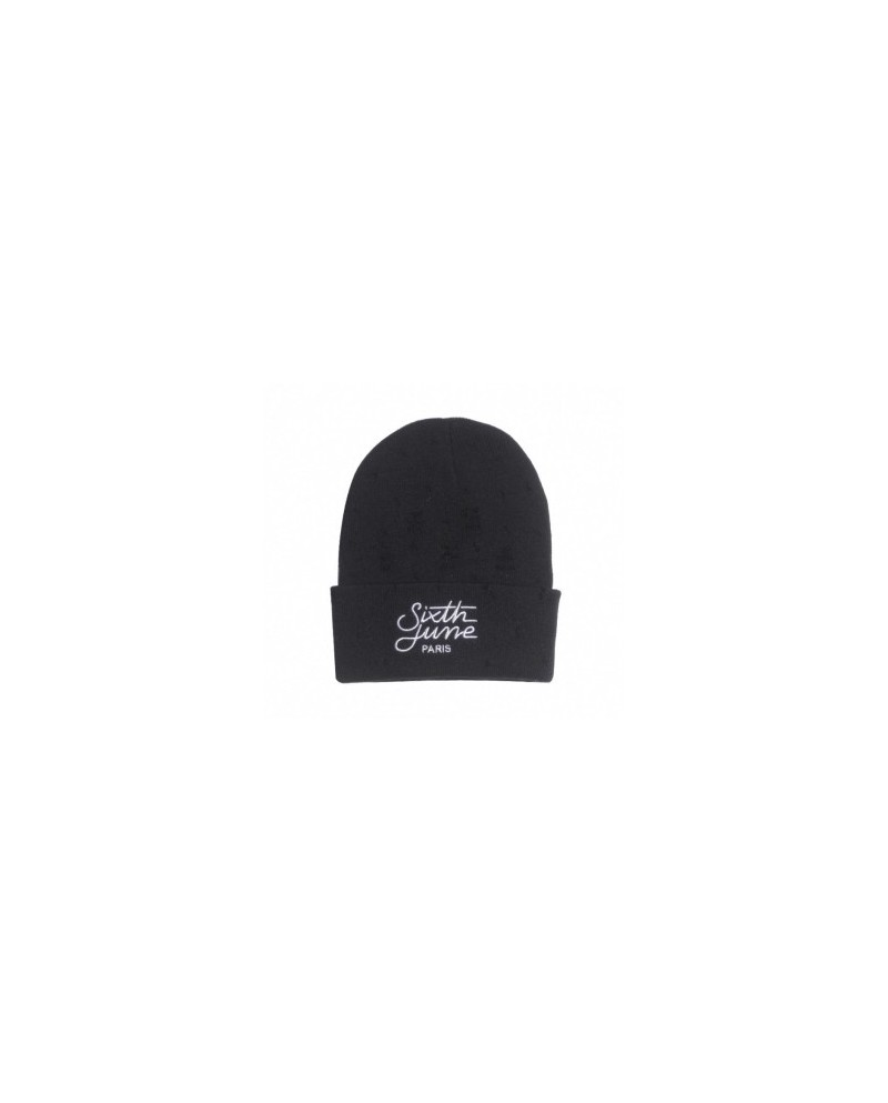 Sixth June Black Beanie