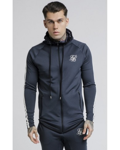 Sik Silk Athlete Tech Tape Zip Through Hoodie