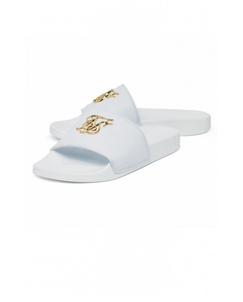 Sik Silk Roma Lux Slides White & Gold