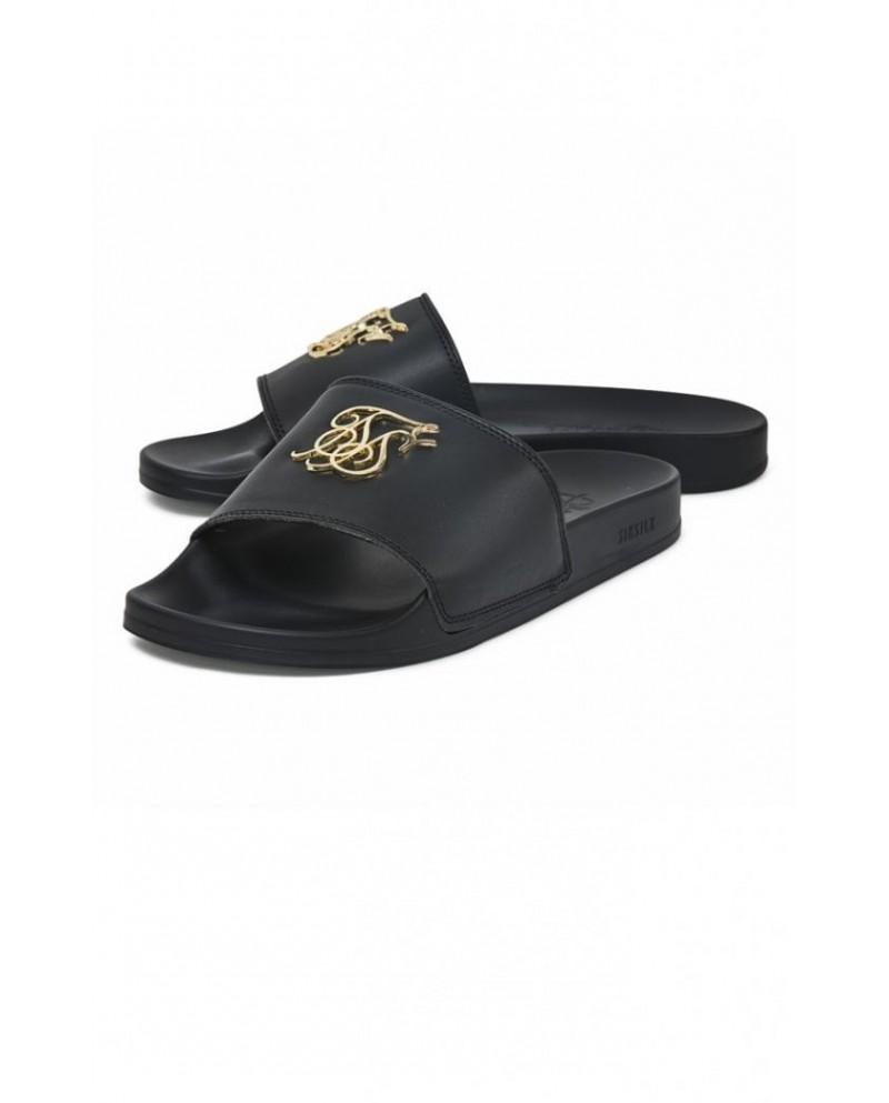 Sik Silk Roma Lux Slides Black & Gold