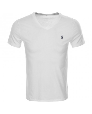 Ralph Lauren V Neck T-shirt White