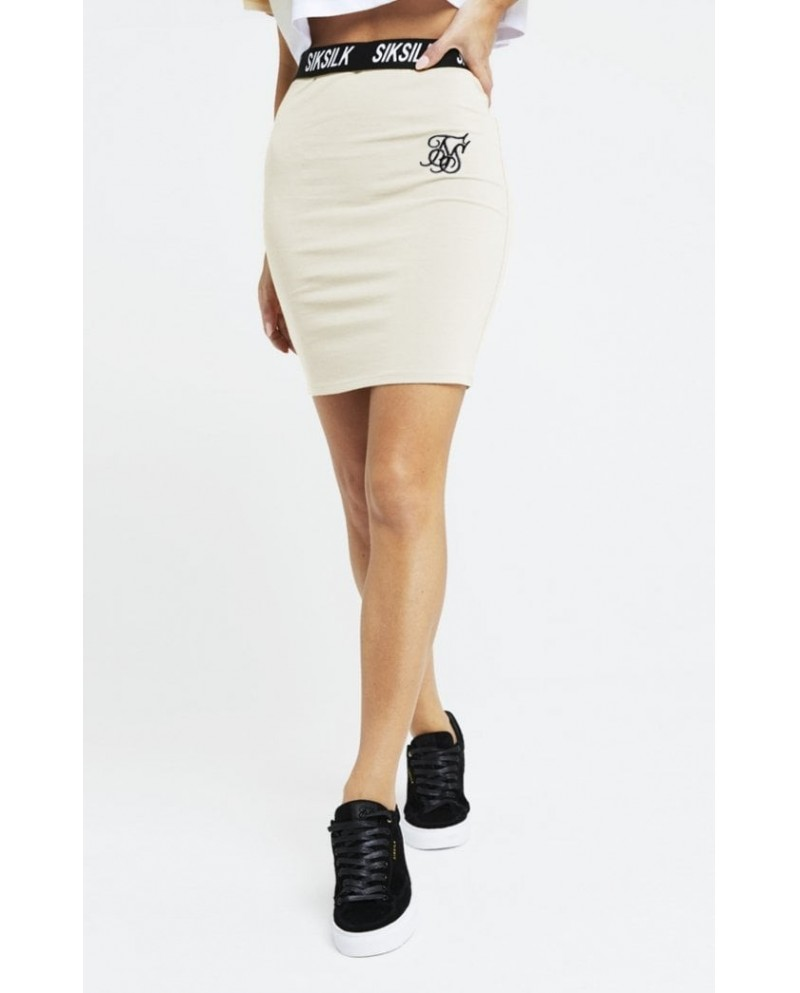 Sik Silk Elastic Waist Tube Skirt
