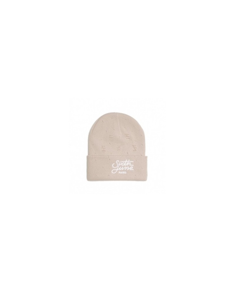 Sixth June Cream Ripped Beanie
