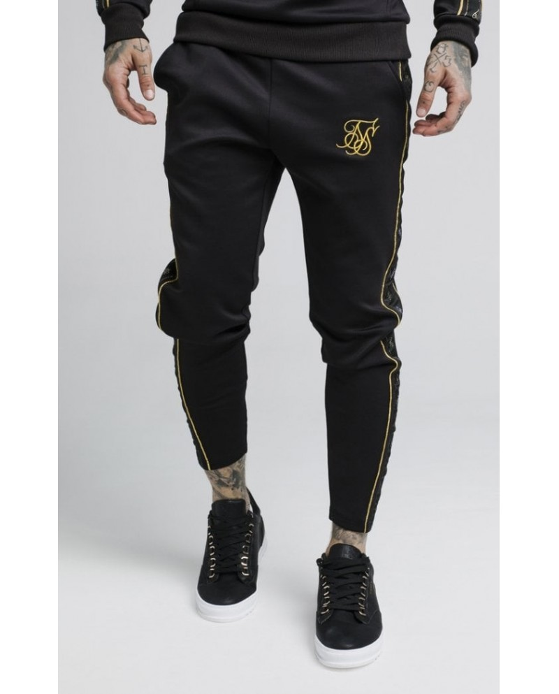 Sik Silk Taped Pants Black & Gold