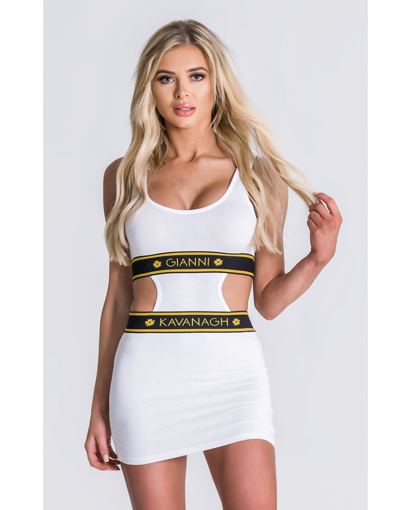 Gianni Kavanagh White Trikini Dress