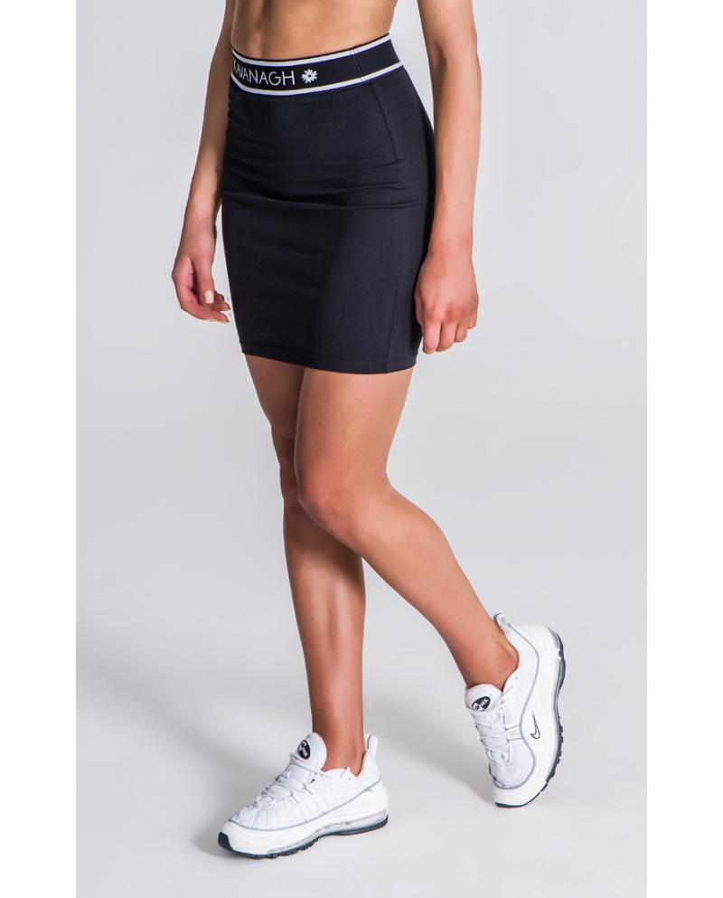 Gianni Kavanagh Black Skirt With GK Black And White Elastic