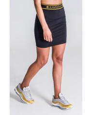 Gianni Kavanagh Black Skirt With GK Black And Gold Elastic