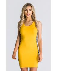 Gianni Kavanagh Yellow Tube Dress With Gk Ribbon