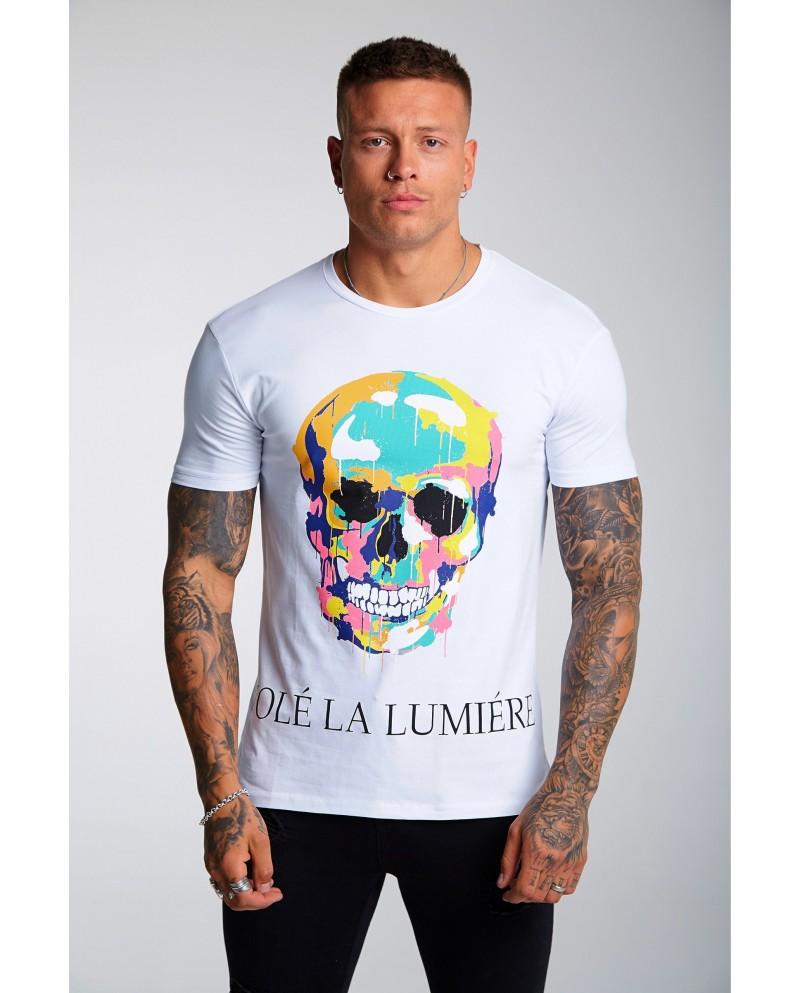 Volé La Lumière Paint Dripping Skull T-shirt