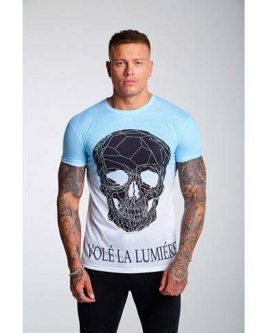 Volé La Lumière Rhinestone Skull Fade T-Shirt