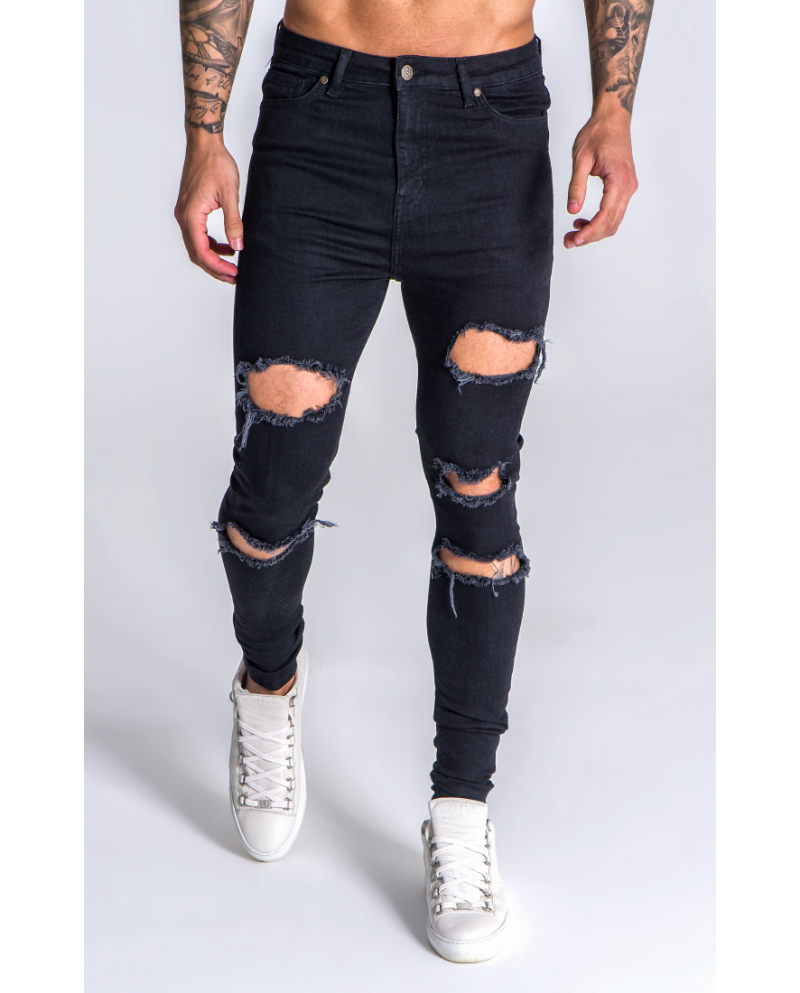 Gianni Kavanagh Black Extra Destroyed Jeans