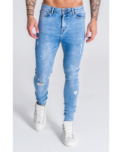 Gianni Kavanagh Splats Light Blue Jeans