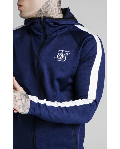 Sik Silk Athlete Zip Through Hoodie