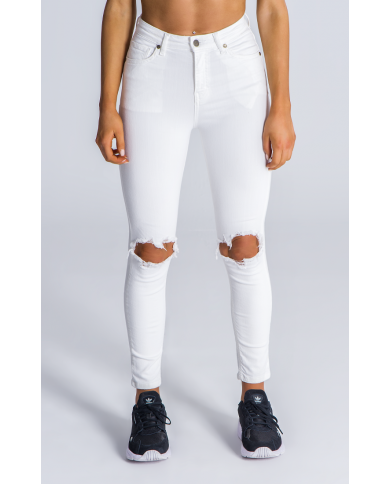Gianni Kavanagh White Signatue Ripped Jeans