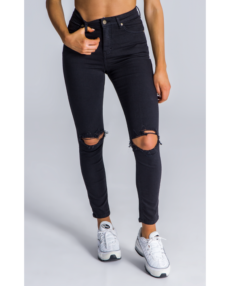 Gianni Kavanagh Black Signature Ripped Jeans
