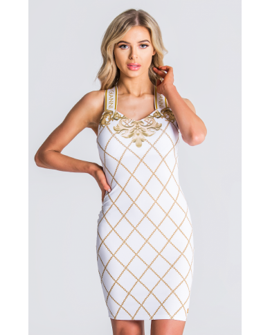 Gianni Kavanagh White Dress With Wide Elastic Straps
