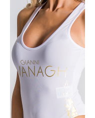 Gianni Kavanagh White Body With Fade Gold Print