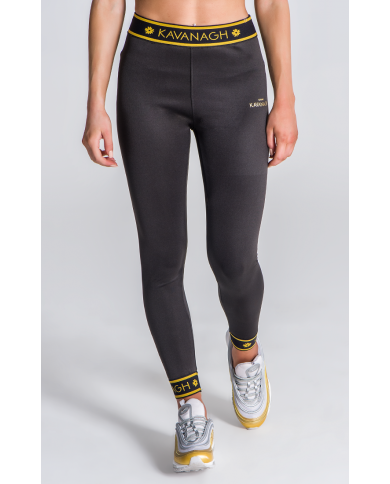 Gianni Kavanagh Black Skinny Joggers With GK Gold Elastic