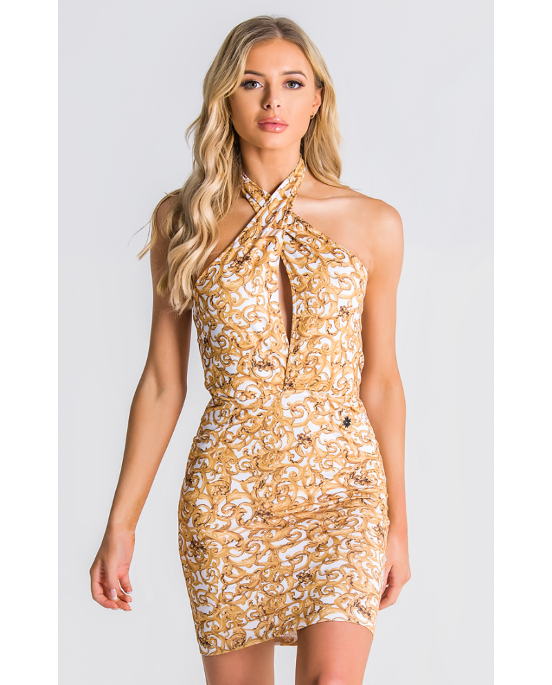 Gianni Kavanagh Baroque Excess Cross Front Dress