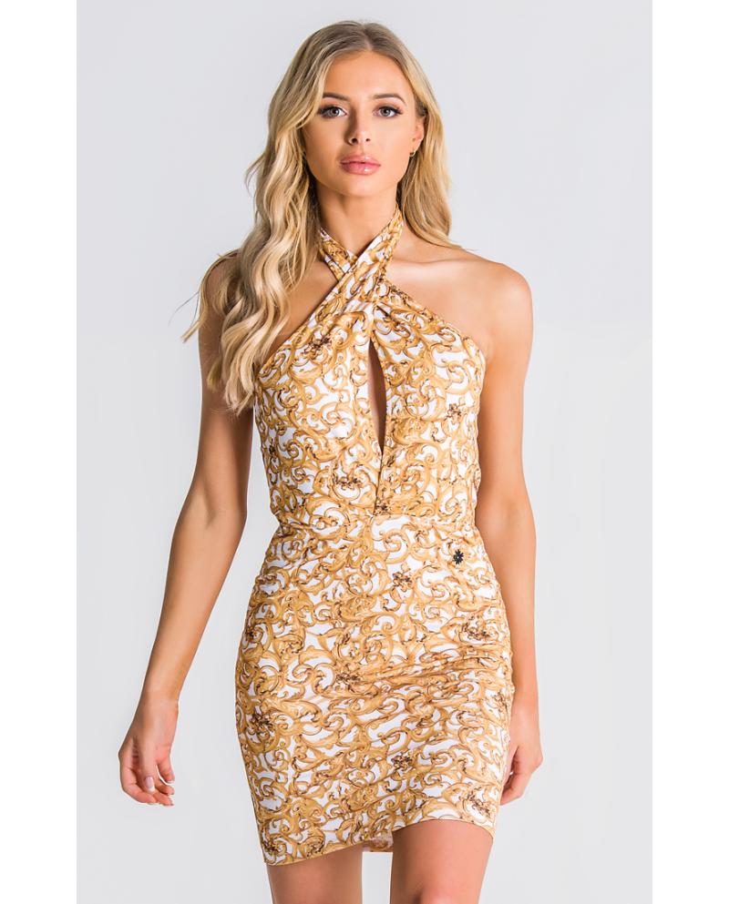 Gianni Kavanagh Baroque Excess Cross Front Dress