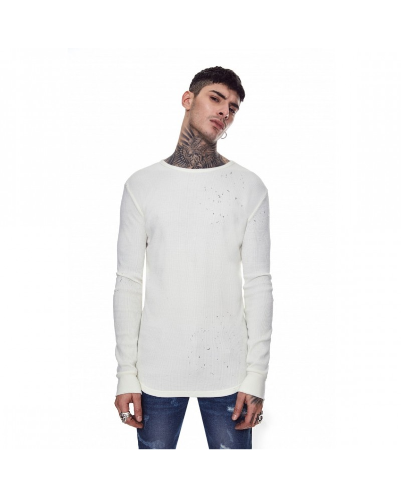 Favela Moth Rib Sweater White