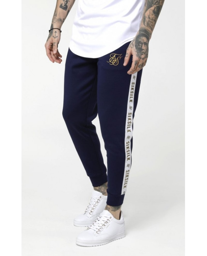 Sik Silk Cuffed Cropped Taped Joggers