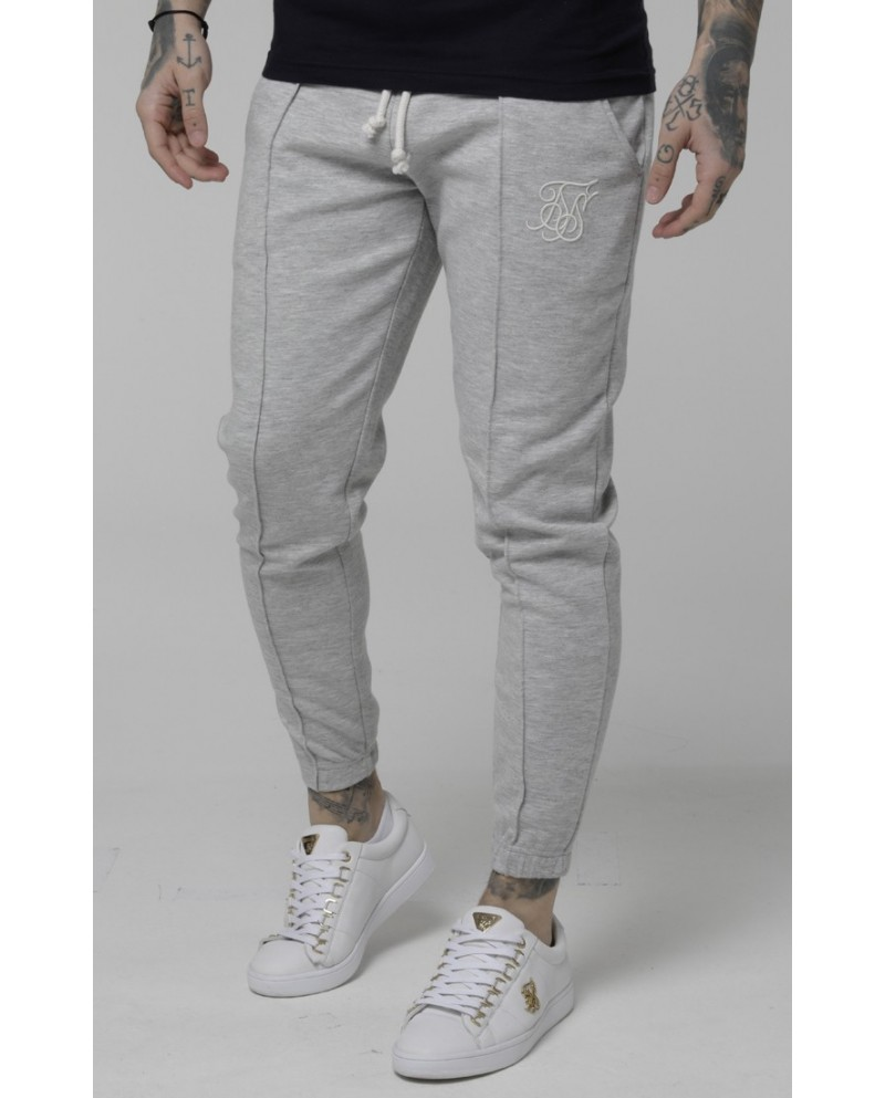 Sik Silk Contrast Industry Pleated Joggers