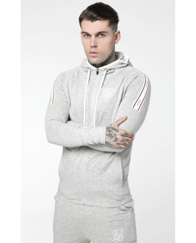 Sik Silk Sports Elasticated Zip Through Hoodie