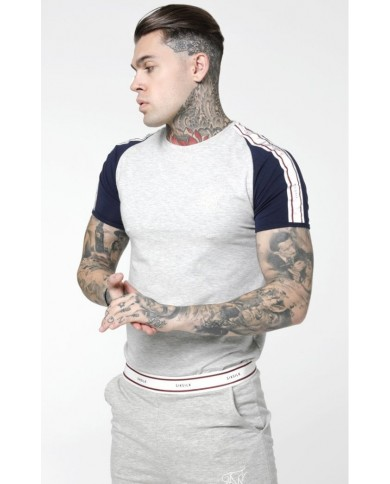 Sik Silk Raglan Taped Sports Gym Tee