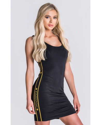 Gianni Kavanagh Black Dress With GK Gold Elastic