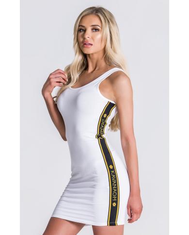 Gianni Kavanagh White Dress With GK Gold Elastic