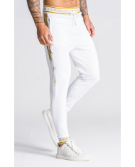 Gianni Kavanagh White With Gold Detail Joggers