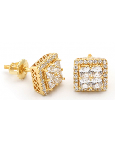 King Ice Layered CZ Earrings