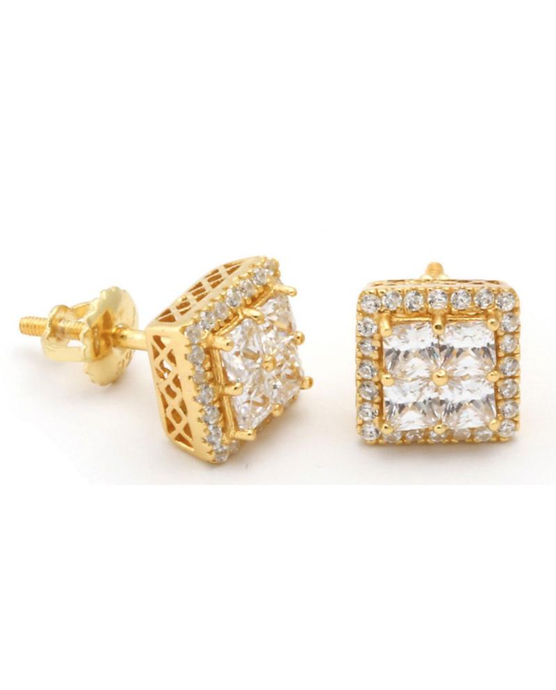 King Ice Layered CZ Earrings