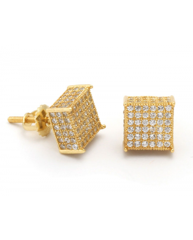 King Ice 3D Hip Hop Stud Earrings