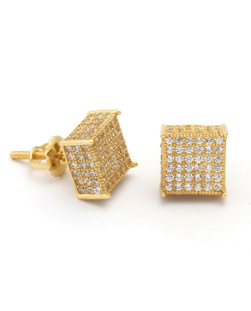 King Ice 3D Hip Hop Stud Earrings