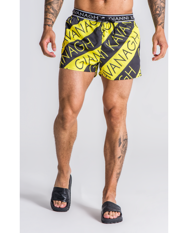 Gianni Kavanagh Neon Lights Swim Shorts with GK Elastic