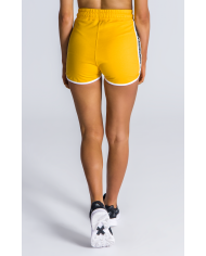 Gianni Kavanagh Yellow Sport Shorts With Gk Ribbon