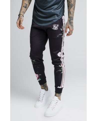 Sik Silk Oil Paint Cuffed Cropped Poly Pants