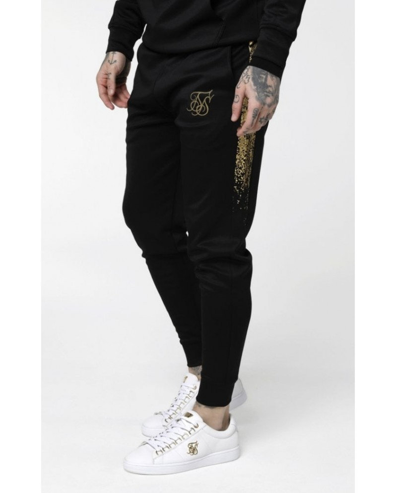 Sik Silk Cuffed Cropped Foil Fade Panel Pants