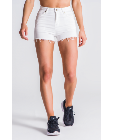 Gianni Kavanagh White Peekaboo Shorts