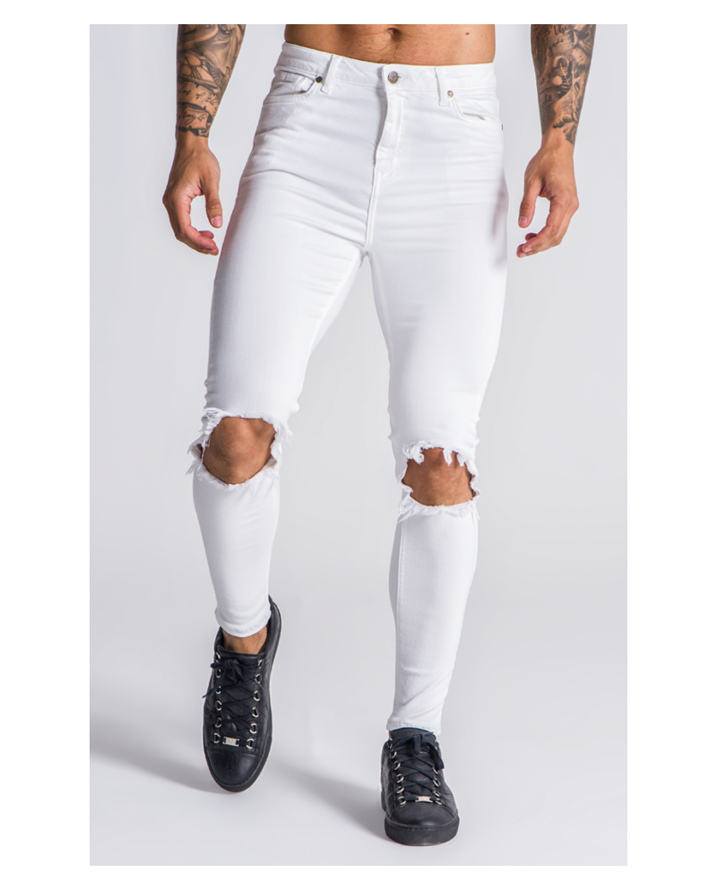 Gianni Kavanagh Golden Circle White Jeans