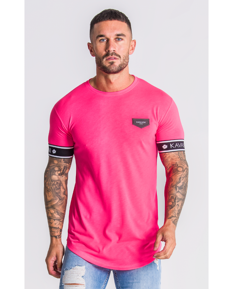 Gianni Kavanagh Neon Pink T-Shirt With GK Elastic