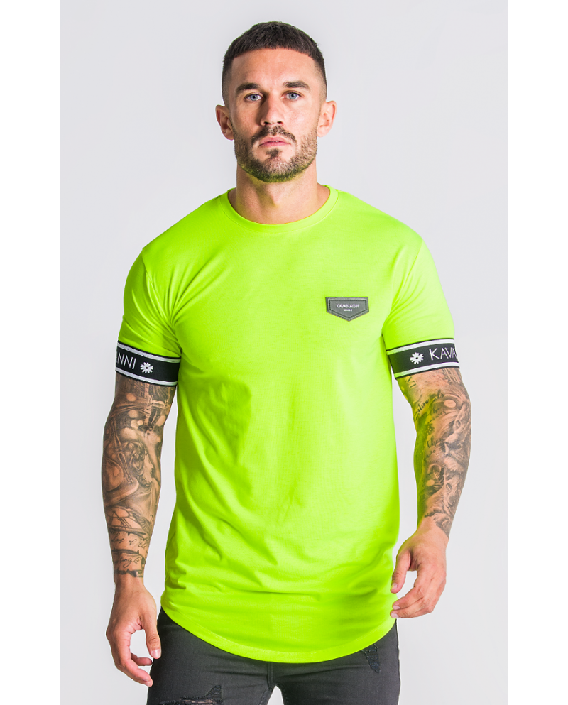 Gianni Kavanagh Neon Yellow T-Shirt With GK Elastic