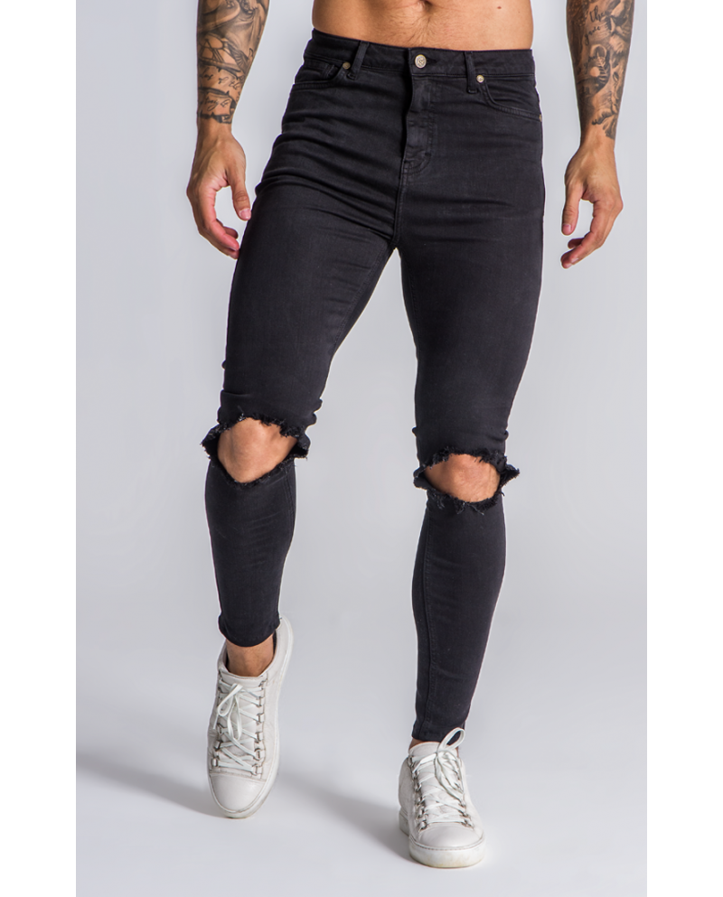 Gianni Kavanagh Golden Circle Black Jeans