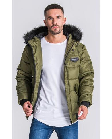 Gianni Kavanagh Green Hooded Bomber Jacket