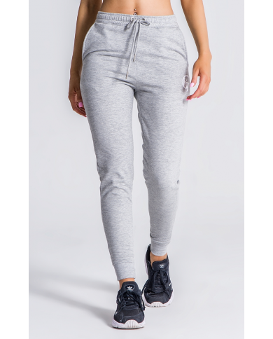 Gianni Kavanagh Grey Melange Joggers With GK White Embroidery
