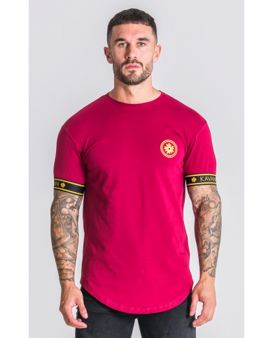 Gianni Kavanagh Burgundy Golden Circle Tee