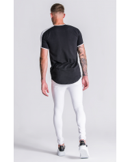 Gianni Kavanagh Black Racer Tee With White Details