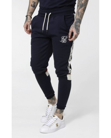 Sik Silk Retro Panel Tape Joggers
